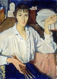 Zinaida Yevgenyevna Serebriakova (Russian artist, 1884-1967) Self Portrait  It's About Time: 1900s Women Artists    Zinaida Yevgenyevna Lanceray Serebriakova was born into a family of artists at the family home Neskuchnoe in the Ukraine