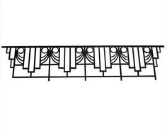 Antique-wrought-iron-ART-DECO-balcony