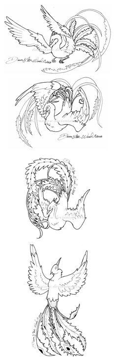 Phoenix tattoo design concepts by DawnstarW.deviantart.com on @deviantART