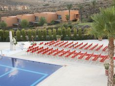 In Hotel Valle del Este in Almeria full of STUA Gas chairs.