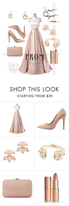 """""""Best Night Ever"""" by supersyd8 ❤ liked on Polyvore featuring Charlotte Russe, Kate Spade, Dune, Charlotte Tilbury, Prom, Pink and PromDress"""