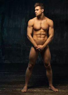 living male statue