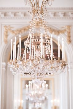 Paris Decor Photography - Versailles Chandelier Print, French Home Decor, Large Wall Art