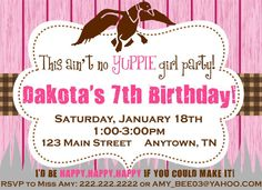 Girls' Duck Dynasty Printable Invitation by 3SweetMemories on Etsy, $8.00