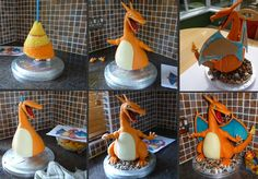 Charizard Stages by ginas-cakes.deviantart.com