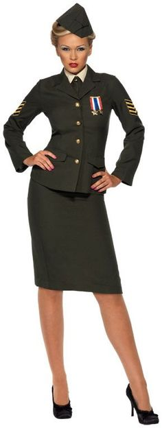 Wartime Officer Female Adult Costume from BuyCostumes.com