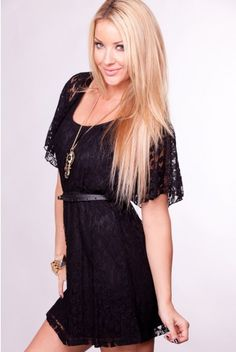 Black and lacey dress :) Simple :)