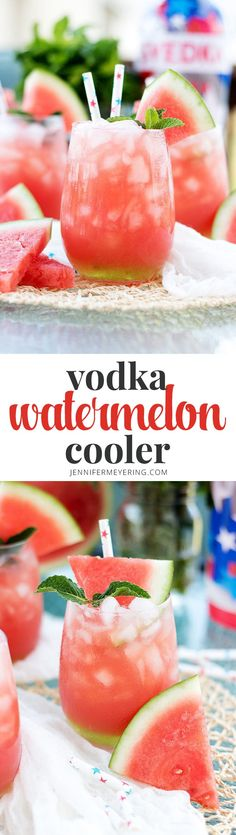 Vodka Watermelon Cooler - JenniferMeyering.com