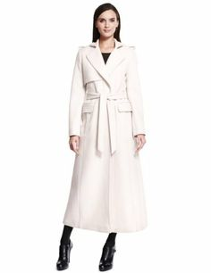 a54695922c36 Autograph Luxury Wool Rich Long Belted Trench Coat - Marks & Spencer Luxury  Belts, Outerwear