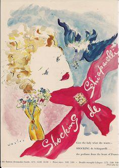 Schiaparelli Shocking perfume ad sweet Marcel Vertes art