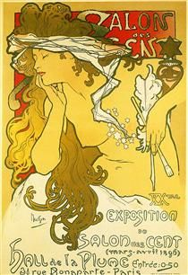 Salon of the Hundred, Alphonse Mucha