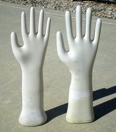 Two hands in the Air and I already feel better!      1 Old Vintage Porcelain Glove Factory Jewelry by TruetiquesInc, $49.95