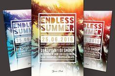 Summer Flyer bundle Vol.04 by styleWish on @creativemarket