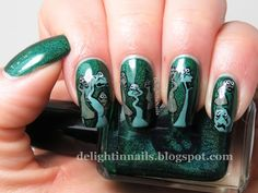 Delight In Nails: 40 Great Nail Art Ideas - Music: Poor Unfortunate Souls from The Little Mermaid