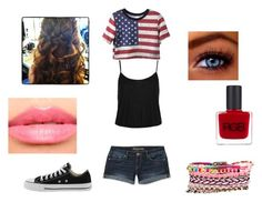 """""""Fourth of July"""" by taylorashmore-1 ❤ liked on Polyvore featuring Topshop, Aéropostale, Converse, RGB, Boohoo and Laura Mercier"""