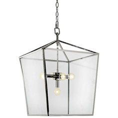 Camden Lantern in polished nickel by Regina Andrew Design.