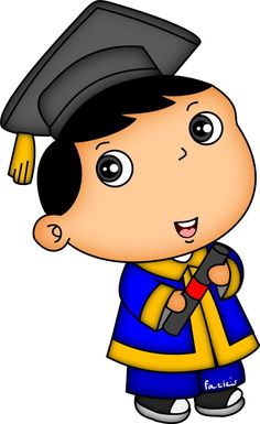 Graduation Cartoon, Diy And Crafts, Paper Crafts, Muslim, Art For Kids, Mickey Mouse, Pikachu, Doodles, Clip Art