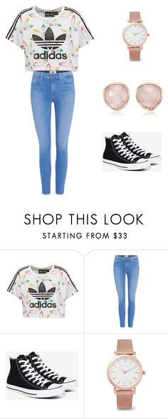 """hasna"" by hasnakamareddine ❤ liked on Polyvore featuring adidas Originals, Paige Denim, Converse, Larsson & Jennings and Monica Vinader"