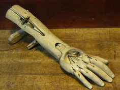 Bunraku-style puppet arm. I would love to create something like this and film it doing a bunch of really out of the ordinary things for a puppet arm to do. Like trying to grab rice, really really frustrating things to try and do with a puppet arm.