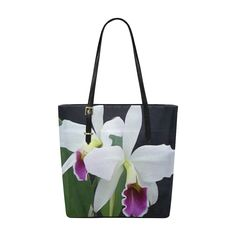 Gorgeous Purple and White Orchids Floral Euramerican Tote Bag/Small (Model 1655)