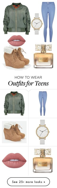 """Untitled #169"" by nerdypanda777 on Polyvore featuring Boohoo, JustFab, New Look, Lime Crime, Givenchy and Skagen"