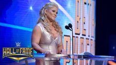 Beth Phoenix offers a Rated-R tribute to Edge: WWE Hall of Fame 2017 (WWE Network Exclusive) Wrestling Divas, Wrestling News, Adam Copeland, Beth Phoenix, Scott Hall, Hard Work And Dedication, Gym Membership, Muscle Fitness, Wwe Superstars