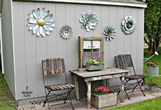 Late last summer, I purchased a Princeton x shed kit from Home Depot. My husband put the kit together with a few reinforceme. Shed Conversion Ideas, Shed Decor, Home Decor, Home Depot Shed, Garden Junk, Garden Sheds, Backyard Sheds, Garden Art, Garden Whimsy