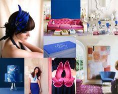 Fuchsia, Cobalt, & White Wedding Inspiration Board