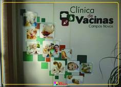 Adesivos Clínica de Vacinas - Campos Novos-SC  Criação - Nuance Agência de Design
