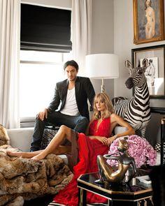 Ryan Korban's living room featured in the February 2012 issue of Harper's BAZAAR.   - HarpersBAZAAR.com
