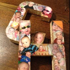 So cute to do w/ the girls initials in either their future playroom or nursery
