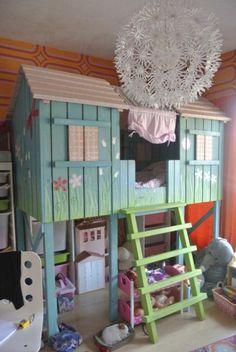 Semi hoogslaper/boomhut voor meisjes: http://link.marktplaats.nl/m925086511