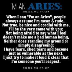 """Zodiac City - """"Im An Aries! Words from an Aries. Aries Zodiac Facts, Aries And Pisces, Aries Baby, Aries Love, Aries Astrology, Aries Quotes, Aries Horoscope, My Zodiac Sign, Horoscopes"""