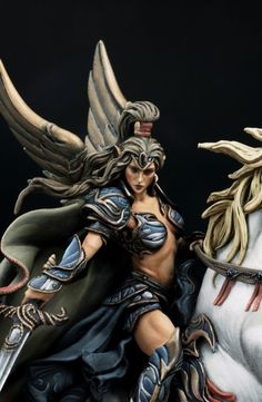 Zorabeth, Morning Mist (Andrea Miniatures. 54mm) by yoon · Putty&Paint. Holy crp that is awesome!