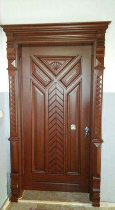 Front Door Design Wood, Modern Wooden Doors, Wooden Door Design, Wood Doors Interior, Wood Mantels, Door Design Interior, Door Gate Design