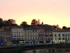 Coucher sur Saône
