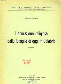 L educazione religiosa della famiglia di oggi in calabria