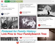 How-to link your FamilySearch Memories to a Pinterest Board for ultimate cousin bait. I NEED TO DO THIS!