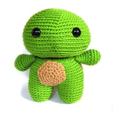 Meet Thomas the Turtle! Crochet an adorable turtle! You'll love his shell! Thomas measures 8″ tall when crocheted with worsted weight yarn. Materials Required 18mm eyes are featured. Th…