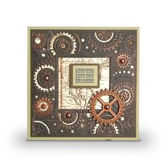 This card has been made using the Time Machine Create-a-Card Die by Crafter's Companion. Available from www.cardcraftplus.co.uk