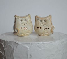 Wedding cake topper...cats in love... i do me too by SkyeArt, $46.00