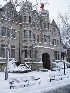 Psi Upsilon at University of Pennsylvania.   An imposing turn-of-the-century castle.  How could you go wrong?