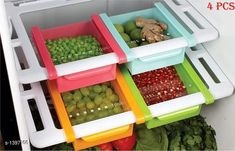 Jars & Container Multi Purpose Fridge Drawer (Set of 4)  *Material* Plastic  *Description* It Has 4 Piece of Multiple Purpose Fridge Drawer Set  *Sizes Available* Free Size *   Catalog Rating: ★4 (289)  Catalog Name: Useful Assorted Home & Kitchen Utilities Vol 17 CatalogID_180846 C130-SC1639 Code: 324-1397166-