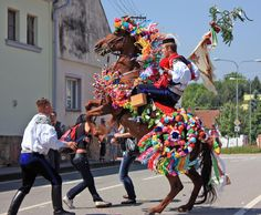 """""""the RIDE of the KINGS"""" - Czechia - south Moravia - the city Kunovice, Hluk, Vlčnov, Skoronice. Folk Costume, Costumes, Art Populaire, Folk Clothing, European History, Central Europe, Beautiful Patterns, Czech Republic, Marie"""