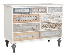 Mirror Mosaic 9 Drawer Dresser