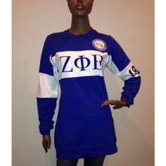 Zeta Phi Beta Sorority Fleece Tunic - Zeta Phi Beta - Greek - Shop