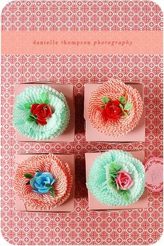 Cupcake Liner Flowers for Valentines