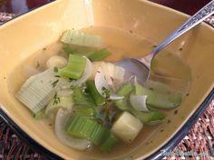 Receita de Sopa diurética de cebola e aipo - Fácil
