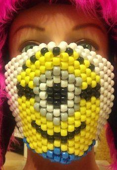 Minion Despicable Me Kandi Mask by CrazedCreationz on Etsy, $15.00
