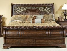 Arbor Place Sleigh Bed 6 Piece Bedroom Set in Brownstone Finish by Liberty Furniture - Solid Wood Bedroom Furniture, Wooden Bedroom, Bed Furniture, Furniture Design, Modern Furniture, Office Furniture, Furniture Dolly, Furniture Movers, Furniture Outlet